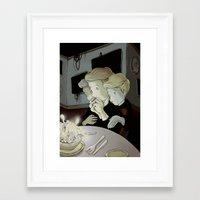 fear Framed Art Prints featuring fear by Jubenal Rodriguez
