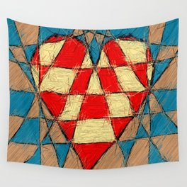 Abstract heart Wall Tapestry