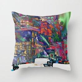 Evening in Sorrento Throw Pillow