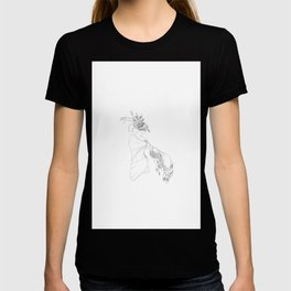 The Woman in the Bird Mask T-shirt