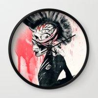 punk Wall Clocks featuring PUNK by Ali GULEC
