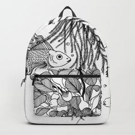 Waterlilies and goldfishes Backpack