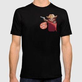 Pocket attack cowboy T-shirt