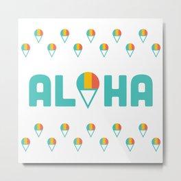 Aloha Shave Ice Metal Print