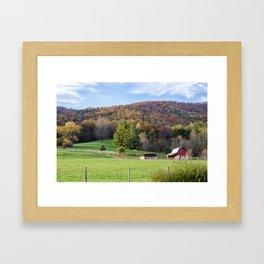 Red Barn Fall Art Framed Art Print