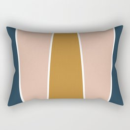 Retro Autumn Color Block Rectangular Pillow