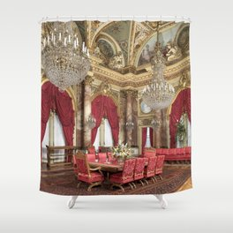 Newport Mansions, Rhode Island - The Breakers Dining Room by Jeanpaul Ferro Shower Curtain