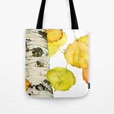 Falling Aspen Leaves Tote Bag