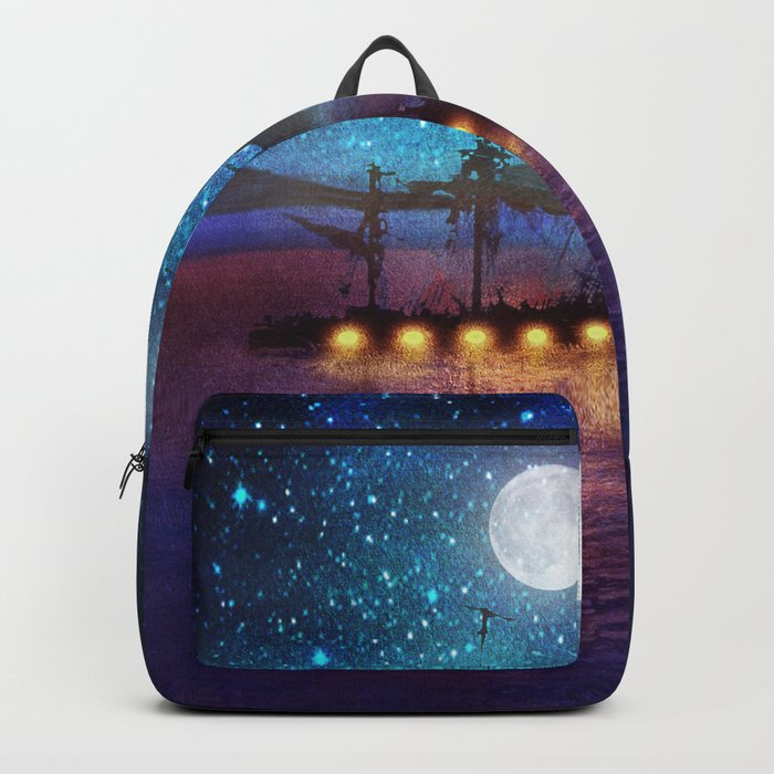 The lights and the Silent Water Backpack