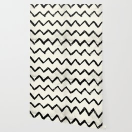 ZigZag Stripes on Ivory Wallpaper
