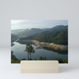 Geres river at sunrise Mini Art Print