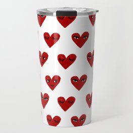 Heart love valentines day gifts hearts with faces cute valentine Travel Mug