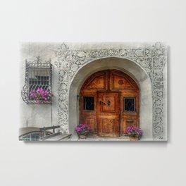 Rustic Front Door Metal Print