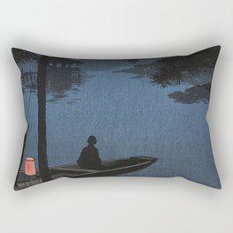 Boat with Lantern Beneath Shubi Pine Rectangular Pillow