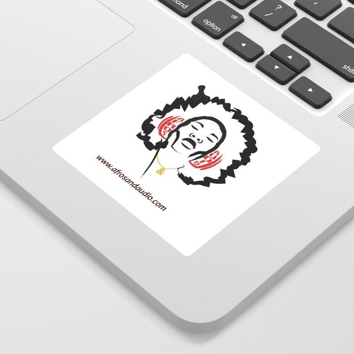Afros & Audio Official Logo Sticker