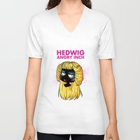 hedwig V-neck T-shirts featuring Hedwig and the Angry Inch by Sunshunes