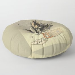 Samurai worrior ukiyoe print Floor Pillow