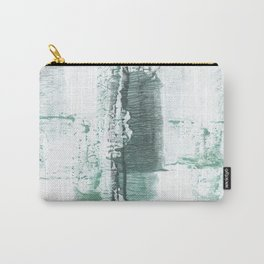 Gray green stained watercolor texture Carry-All Pouch
