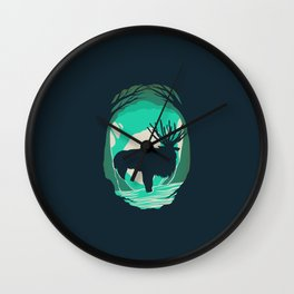 God Of The Forest Wall Clock