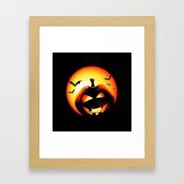 Smile Of Scary Pumpkin Framed Art Print
