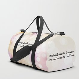 """Verbosity leads to... """"Dan Quayle"""" Inspirational Quote Duffle Bag"""