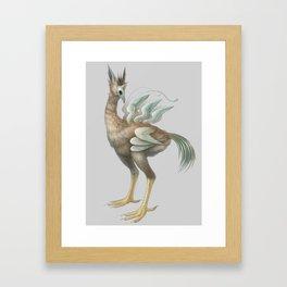 The Many-Winged Skullbird Framed Art Print