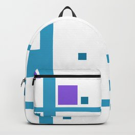 Violet Rectangle with turquoise Lines Backpack