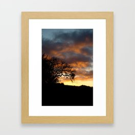 Mendocino Sunset Framed Art Print