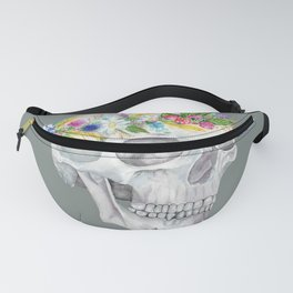 Human Skull: Floral Anatomy Fanny Pack