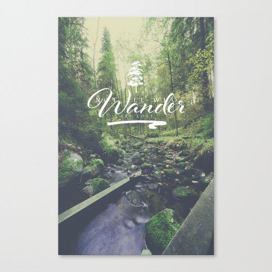 Mountain of solitude - text version Canvas Print