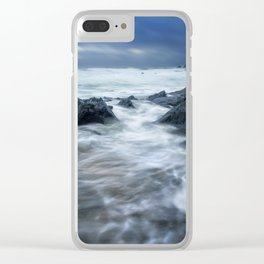 Stormy Church Cove Clear iPhone Case