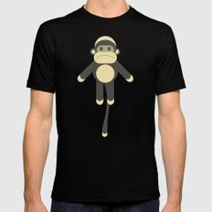 SOCK MONKEY Mens Fitted Tee Black SMALL
