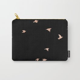 Rose Gold Black Birds Fly Free Carry-All Pouch