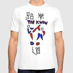 Taekwondo Mens Fitted Tee MEDIUM White