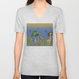 Exciting Fun And Exotic Jungle Theme Unisex V-Neck