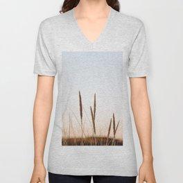 Beach grass II | Calm natural fine art print | Netherlands Unisex V-Neck