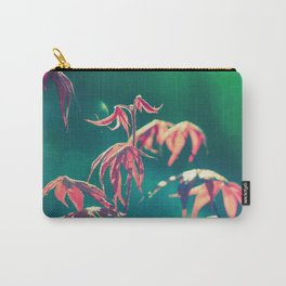 Renewal 2,  Spring Botanical New Red Maple Leaves Dance in the Sunlight Carry-All Pouch