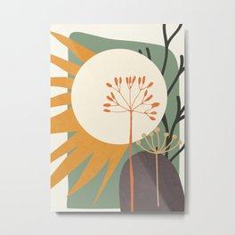 Abstract Plant 03 Metal Print