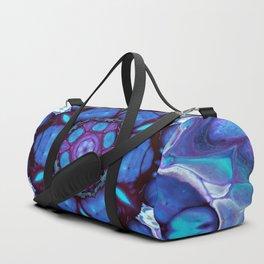 Digital Art Bue and Purple Kaleidoscope - Geometric Colorful Duffle Bag