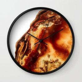 Desert Amber Agate Wall Clock