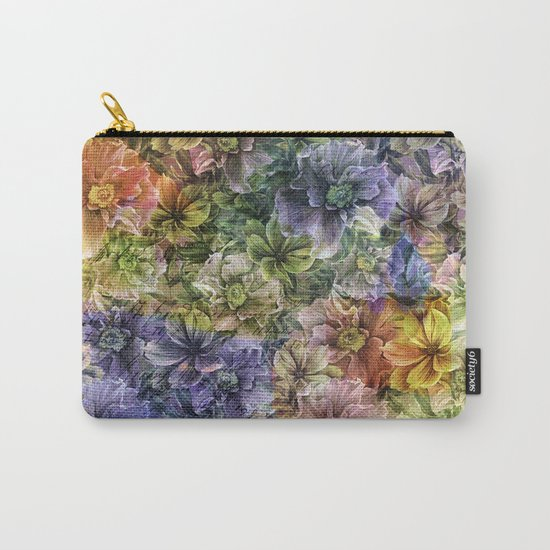 Floral painterly pattern Carry-All Pouch