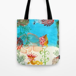 Sea Shell Flowers II Tote Bag