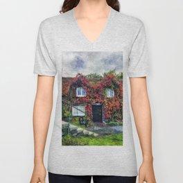 Autumn Cottage Unisex V-Neck