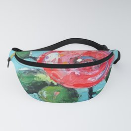 Spring Rose in Oil with Teal Fanny Pack