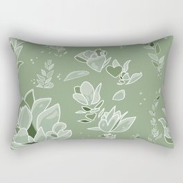 Succulent Sunshine- Beauty Flourishes in the Sun Rectangular Pillow