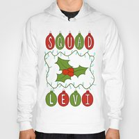 levi Hoodies featuring Christmas Themed Squad Levi Print by Cutie Crafts