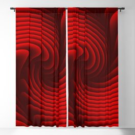 Abstract red 229 Blackout Curtain