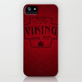 Viking Valkyrie Special Forces iPhone Case