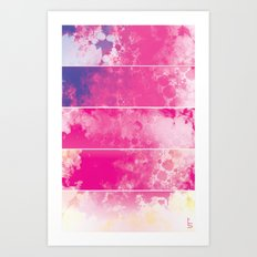 Color Texture (Five Panels Series) Art Print