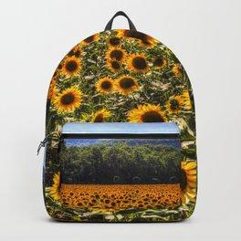 Sunflower Fields Of Dreams Backpack